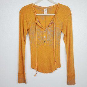 We the Free Magnolia Thermal Henley Orange